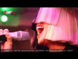 Sia - Chandelier - Live - C'Cauet sur NRJ 11 12 2015 Париж, Франция.