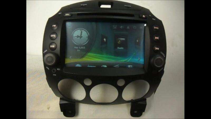 Car DVD Player for Mazda 2 2007- GPS Navigation Auto Radio Stereo Bluetooth TV