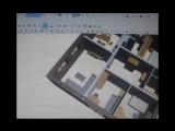 Планировка одноэтажного дома S=100 m2 для семьи из 4 человек. г.Карачев.