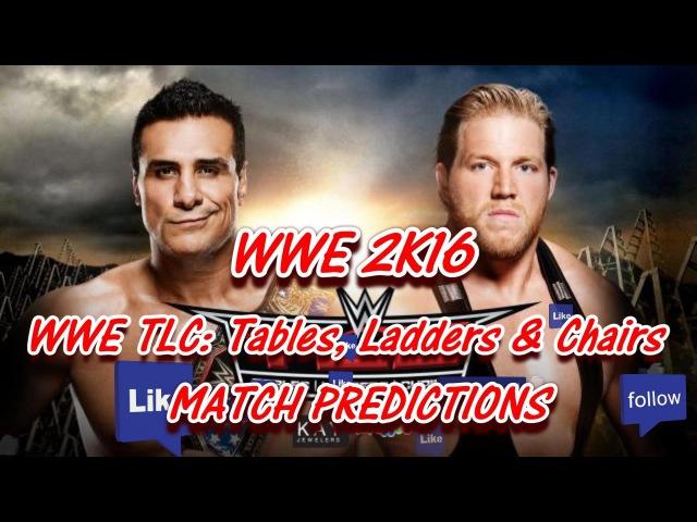 WWE TLC Tables Ladders Chairs 2015 U S Title Alberto Del Rio vs. Jack Swagger WWE 2K16