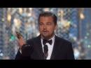 Leonardo DiCaprio \Леонардо Ди Каприо Oscars 2016. Выживший Полная речь с Переводом