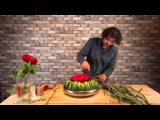 How to make table arrangement with red roses - By Pim van den Akker