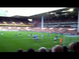 Leighton Baines Goal - Free Kick against Tottenham - With Fans Celebration (HD)