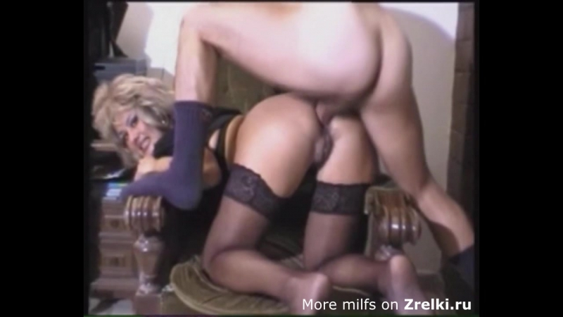 Cute mature milf mom in stockings hard anal with NOT her