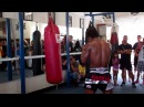 Buakaw on the heavy bag