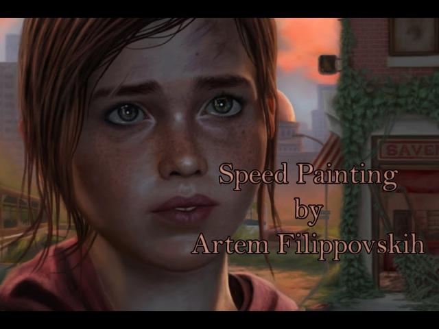 The Last of Us Ellie - Speed Painting by Artem Filippovskih
