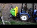 Минитрактор ДТЗ 244.4С Картофелесажалка двухрядная Bomet. Садим под горку.