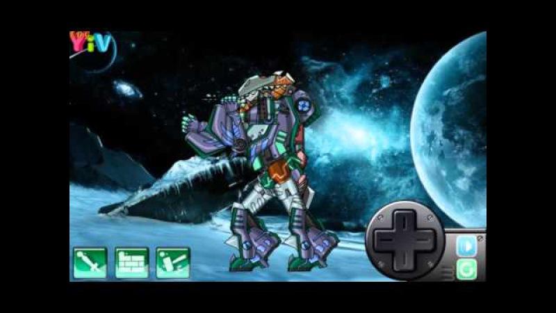 Assembel Dino Robot Mosasaurus Роботы динозавры Мозазавр прохождение игры