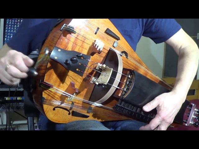 Hurdy gurdy solo Andrey Vinogradov playing Razvrastanata Devoiko Mari Hubava