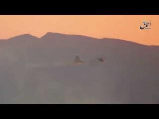 وكالة اعماق لحظة إسقاط المروحية الهجومية الروسية شرق تدمر يوم أمس .