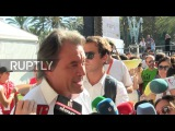Испания Тысячи спускаются на Барселона призывают к Каталонской независимости.