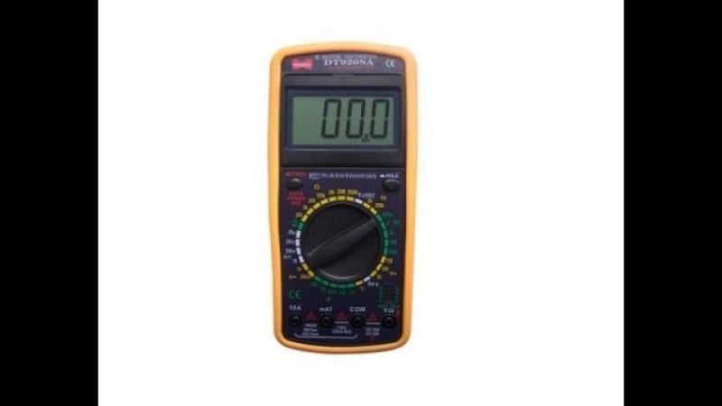 Цифровой мультиметр DT9208A. Видеообзор от Интернет-магазина Electronoff.