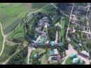 Псково-Печерский монастырь с высоты птичьего полета
