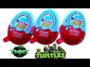 Черепашки Ниндзя Киндер Джой яйца сюрприз открываем игрушки Oeufs Teenage Mutant Ninja Turtles
