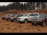 Audi Q5, Renault Duster, Mitsubishi Outlander, Toyota Highlander, Skoda Yeti большой тест