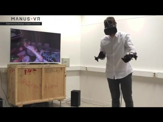 Manus VR shows hand tracking in Surgeon Simulator with HTC Vive