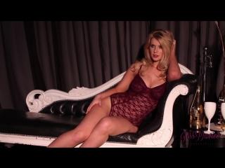 Jess davies-dark red lingerie