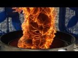 Замедленная съемка исскуственого огненого смерча.