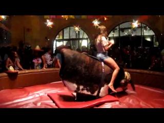 девушка на быке дат жару)