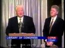 Клоунада в прямом эфире.Предатель Ельцин лижет жопу хозяевам.1994 год