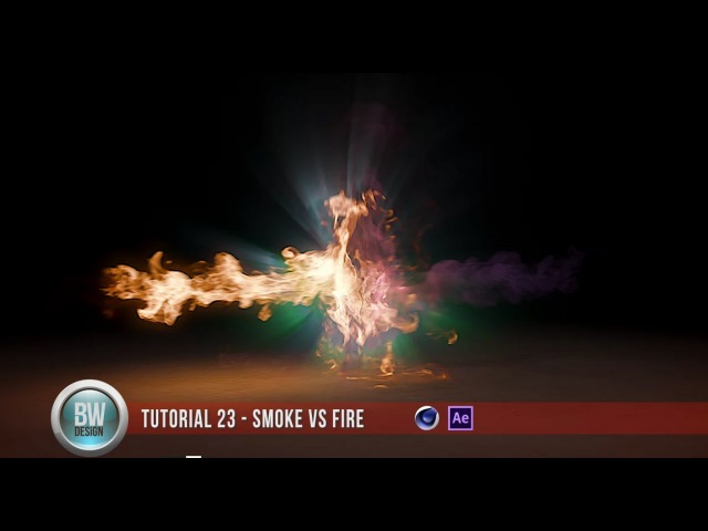 Cinema 4D and Turbulence FD Smoke vs Fire Collision