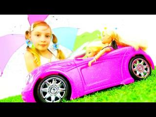 Машинка для Куклы БАРБИ! Волшебство и Исполнение Желаний! Мастер класс, распаковка. Игры для девочек