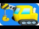 Arabalar çizgi filmleri 60 DAKIKA. Akıllı Arabalar - Vinç, Çöp Kamyonu, Monster Truck ve Kamyon