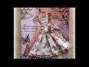 Vintage Dress Mixed Media Canvas Tutorial