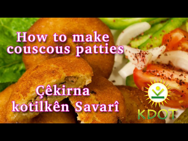 How to make couscous patties Kdot tv