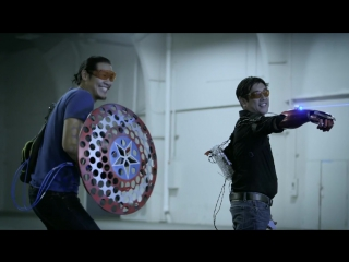 Grant Imahara and Allen Pan Battle their Super Hero Technology part 3