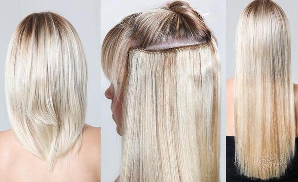 Как правильно одевать пряди для волос