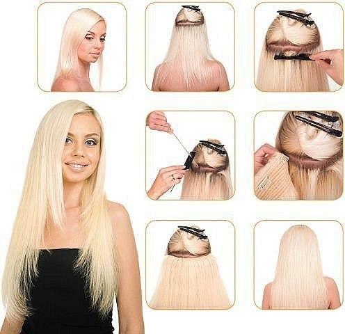 Накладные волосы как одевать