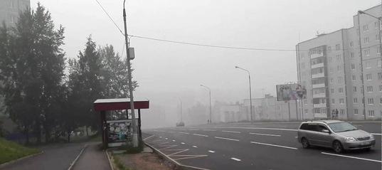 Усть-Илимск в дыму