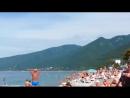 Гагра , набережная,пляж