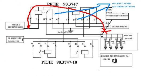 Модуль стеклоподъёмников на