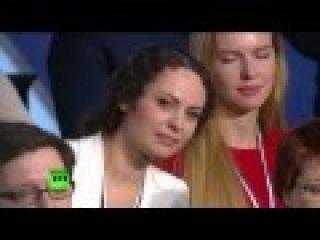 Анастасия Тэммо задает вопрос Владимиру Владимировичу Путину