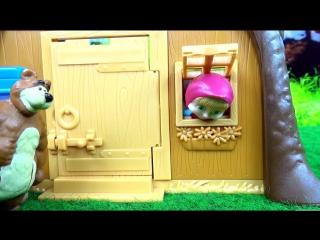 Anna Kids - Маша и Медведь Игровой набор Домик Мишки из мультфильма распаковка играем Masha and the