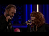 Милен Фармер и Стинг  / Sting and Mylène Farmer Stolen Car - The Tonight Show 04 12 2015 Нью-Йорк  США.