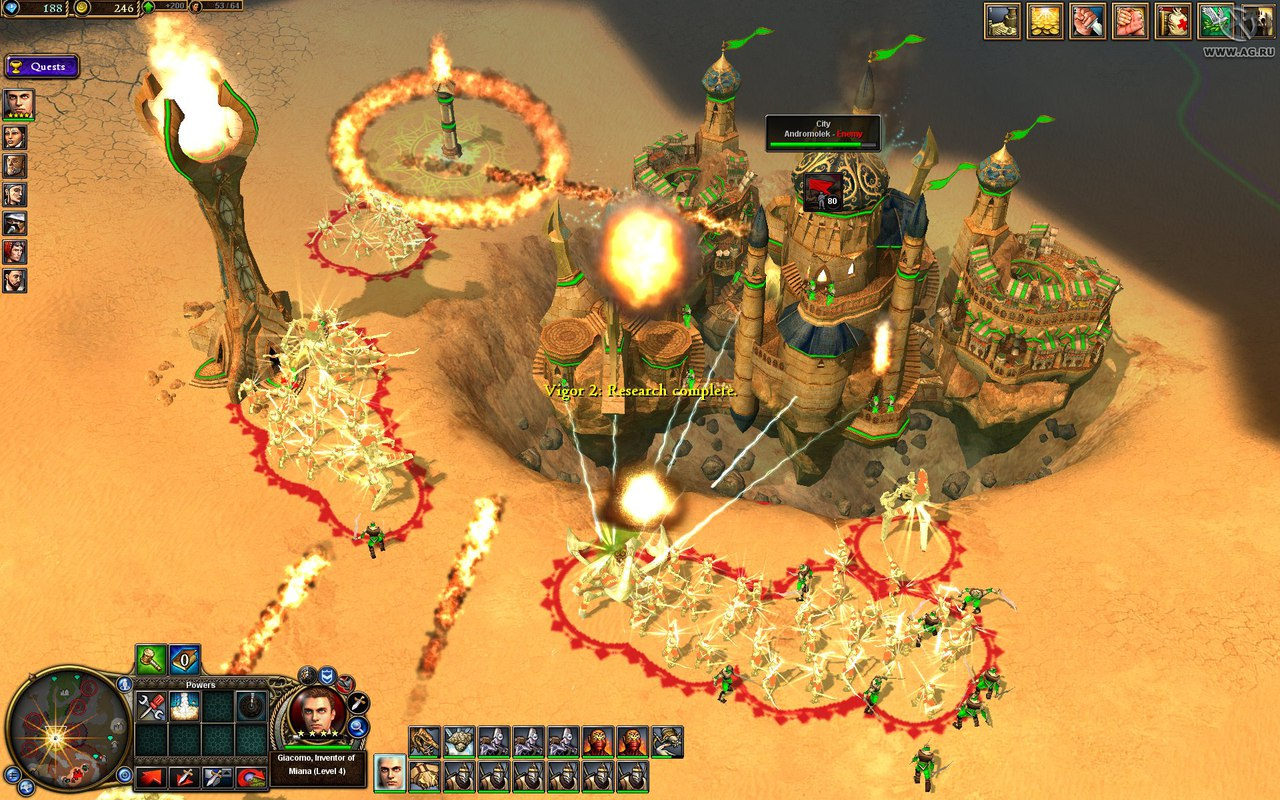 Rise of Nations: Rise of Legends (2006) PC - Скриншот 2