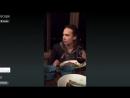 Mercedes's Periscope, ужин в ресторане с кастом FTWD (Frank Dillane, Фрэнк Диллэйн)