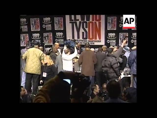 Майк Тайсон устроил погром на пресс конференции с Ленноксом Льюисом