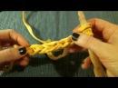 Шнурок из трикотажной пряжи. Вязание крючком