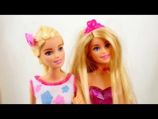 Kız Yıldız - Sema ve Ayca aksesuar kutusunu açıyorlar. Barbie süsleme oyunu