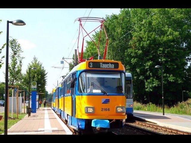 LVB Straßenbahn Leipzig Linie 3 nach Taucha