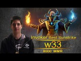 w33 Invoker Ranked Match Gameplay Dota 2
