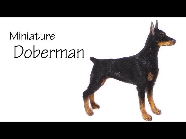 Miniature Doberman - Polymer Clay Tutorial