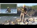 Техника форсирования рек вброд с помощью шеста