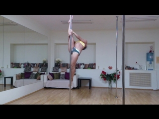 pole dance miridance.ru балерина и шпагат на пилоне Анастасия Богомолова