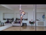 pole dance miridance.ru балерина и шпагат на пилоне Анастасия Богомолова