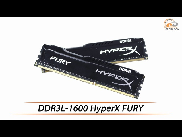 HyperX FURY DDR3L 1600 обзор комплекта ОЗУ объемом 16 ГБ